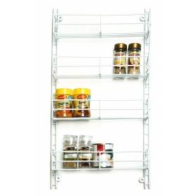 Spice Rack 4 Tier Adjustable White