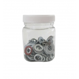 Jar 200ml Clear Square with Screw Lid