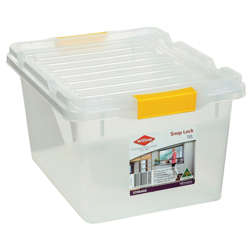 Willow Storage Box 18L Snap Lock Lid from Storage Box