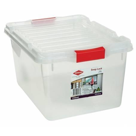 Willow Storage Box 28L Snap Lock Lid