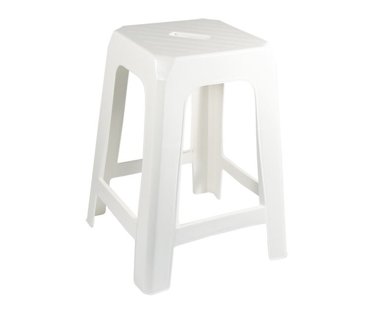 Taurus Stackable Stool White From Storage Box