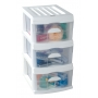 Plastic A3 Unit White 3 Drawer 44x34x65cm