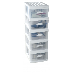 Taurus 5 Drawer A3 Unit White