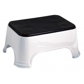 Step Stool Non-Slip White/Black