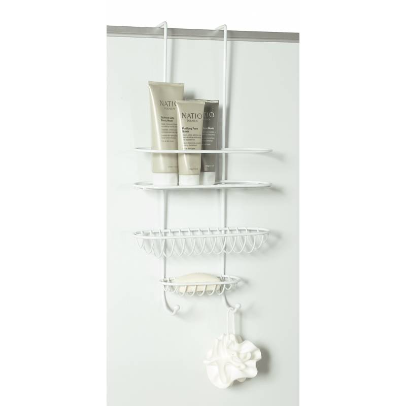Shower Caddy Over Wall or Door White