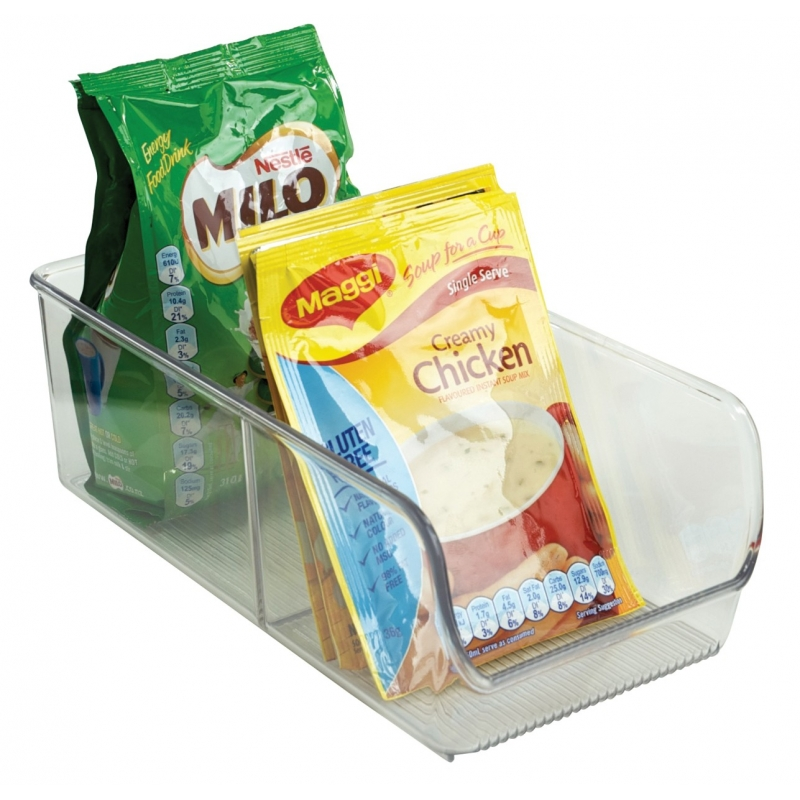 Linus Bin 2 Compartment Clear