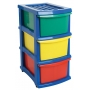 Plastic A3 Unit 3 Drawer Coloured
