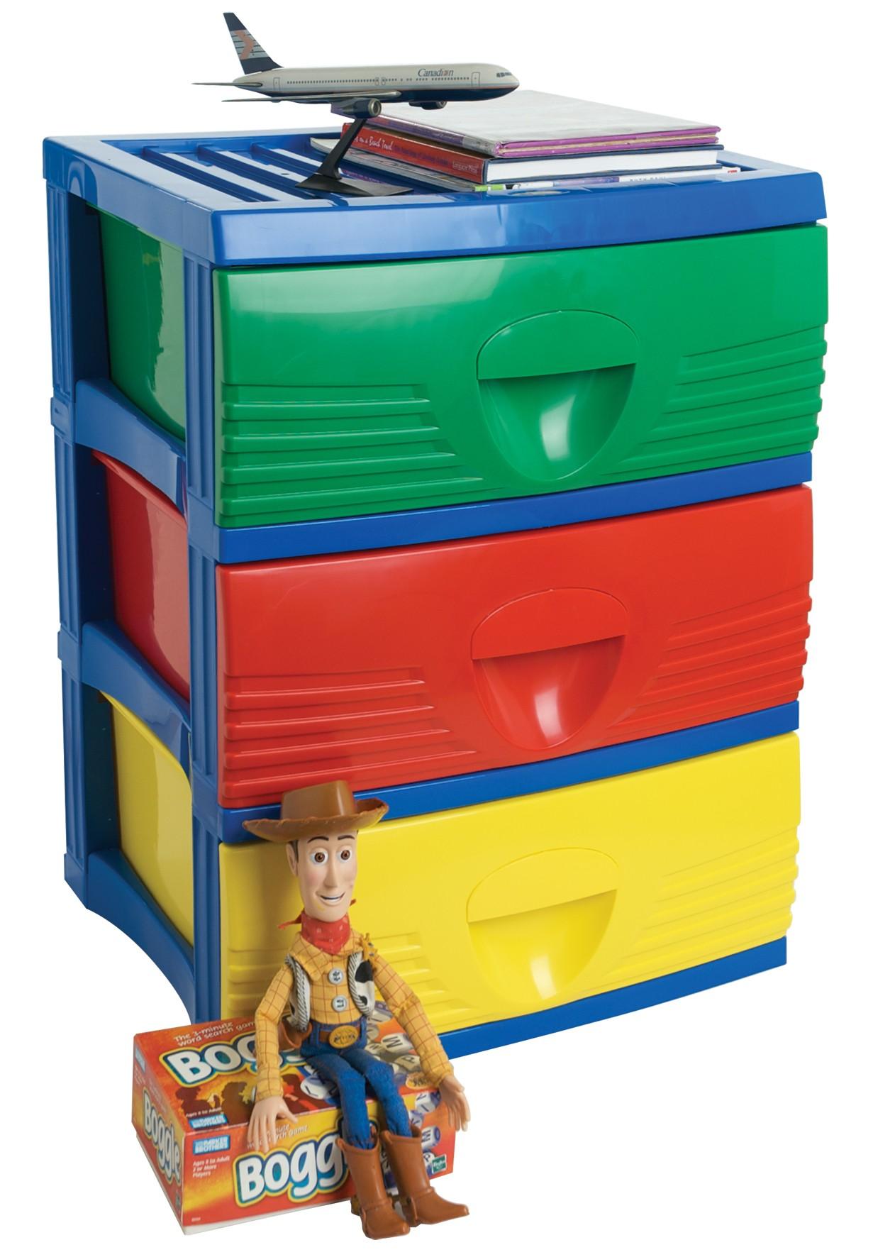 sc 1 st  Storage Box & Plastic B2 Unit 3 Drawer Coloured from Storage Box
