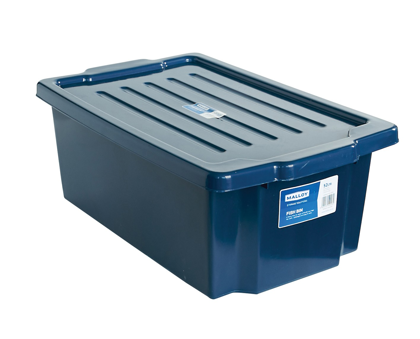 Malloy Fish Bin 52l With Lid From Storage Box