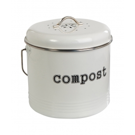 Compost Bin White 6.5L