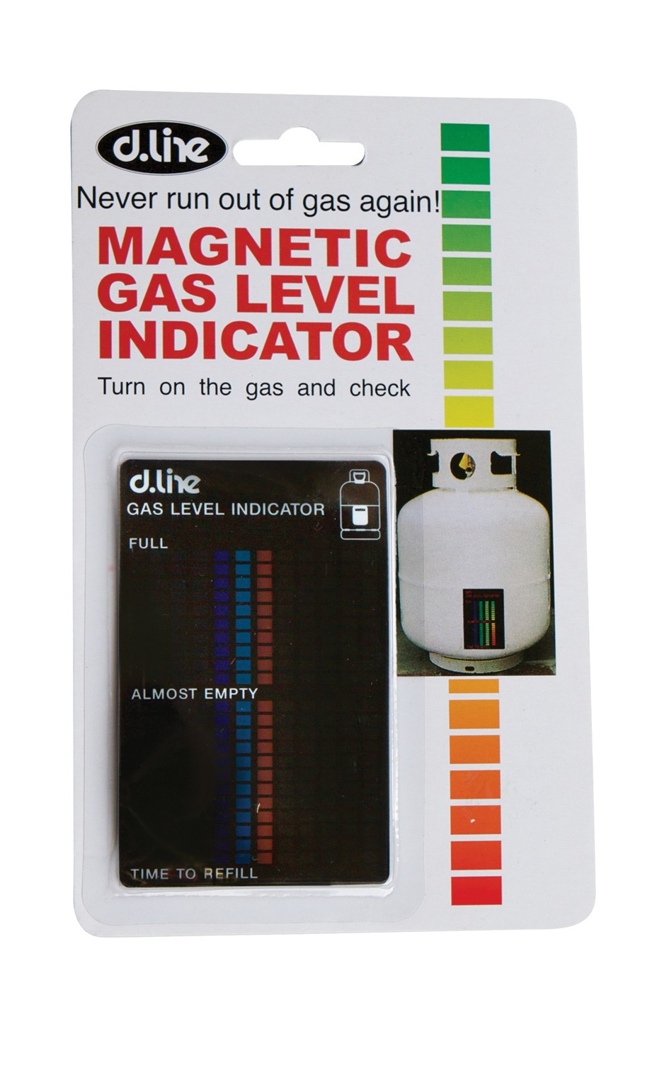 Magnetic Gas Level Indicator From Storage Box
