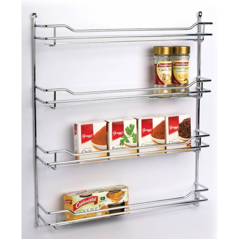 Spice Rack 4 Tier Chrome