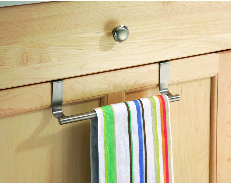 towel bar over cabinet door from storage box. Black Bedroom Furniture Sets. Home Design Ideas