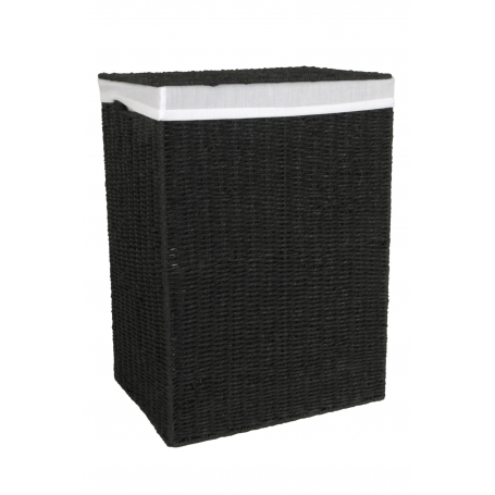 Laundry Hamper Black Large
