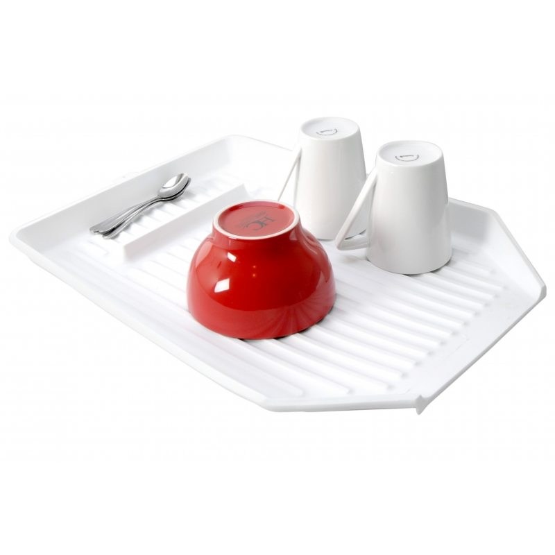 Dish Draining Tray 48x35x45cm White