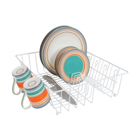 Dish Drainer with Cup Hooks