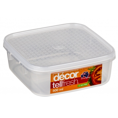 Tellfresh 500ml Food Storer Square