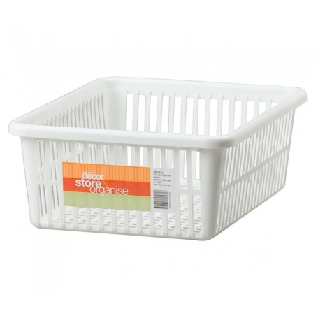 Decor Basket Organiser White
