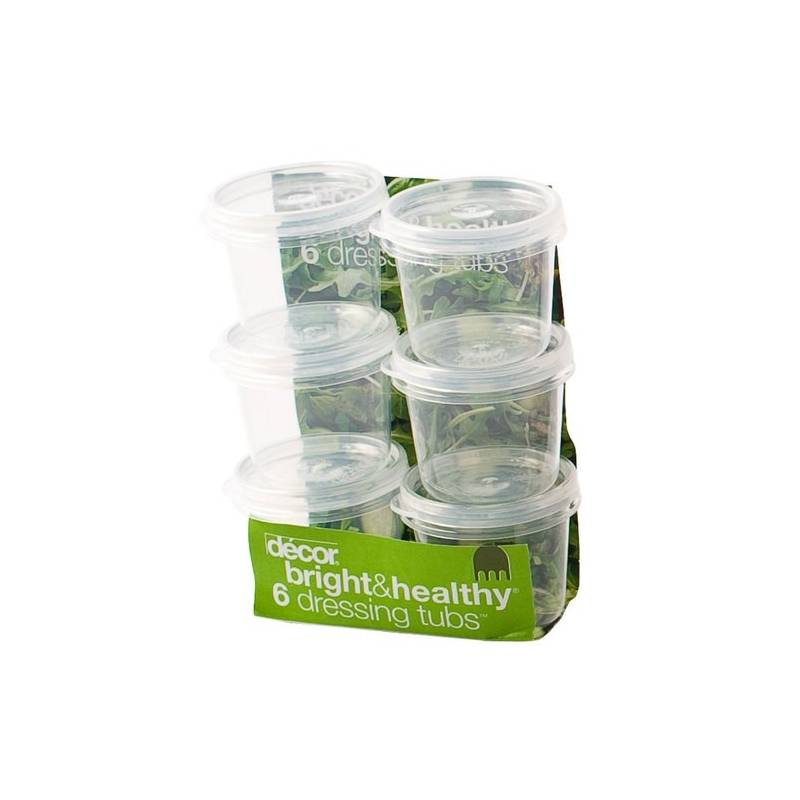 Decor Dressing Tubs 35ml Set of 6