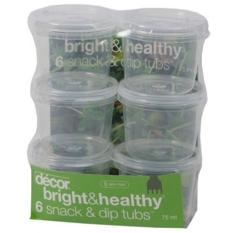 Decor Snack & Dip Tub 75ml Set of 6