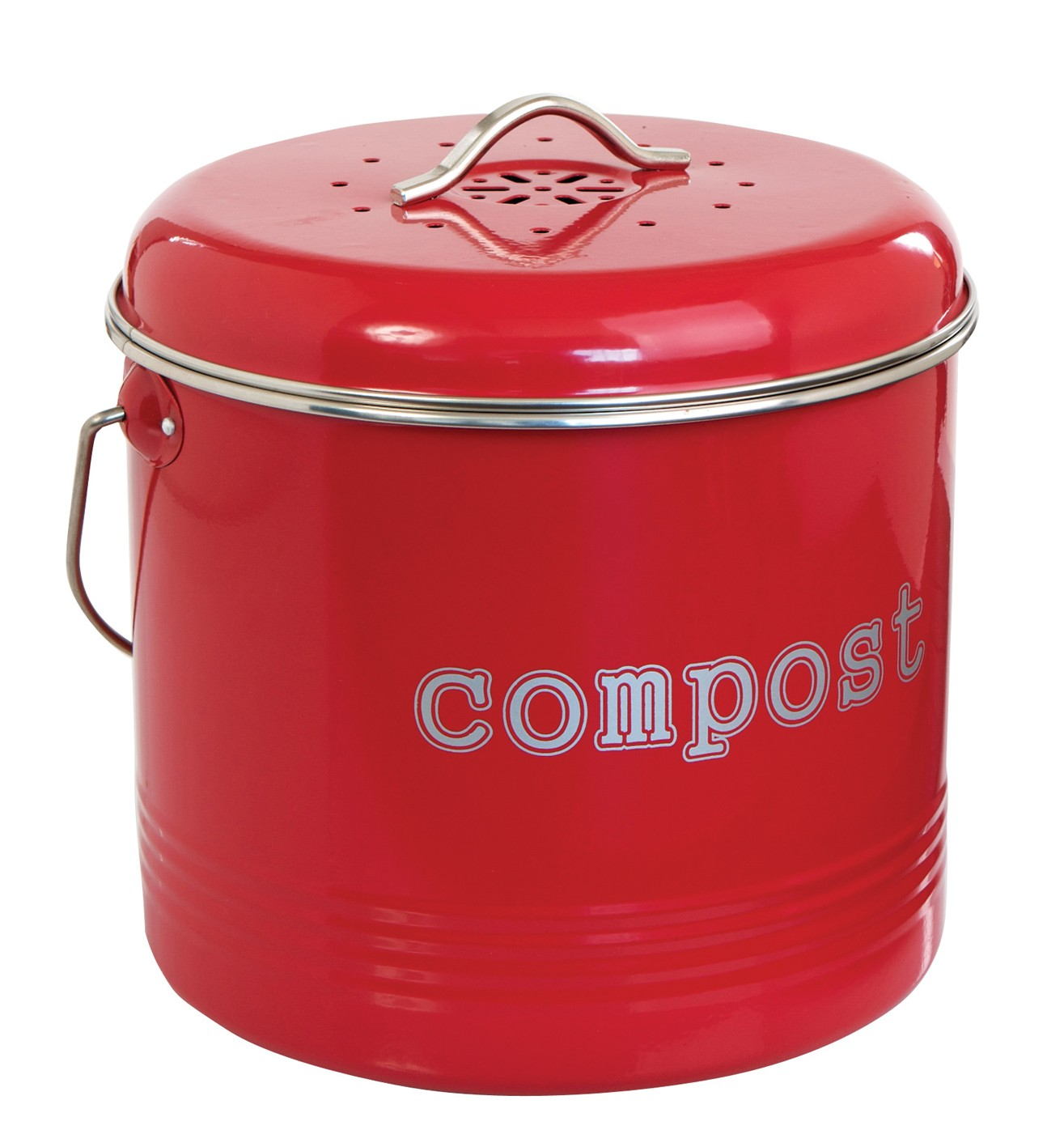 Compost Bin Red 6 5l From Storage Box