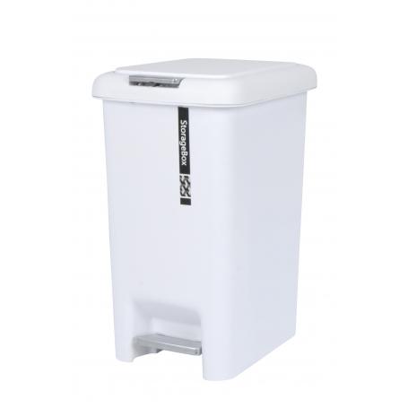 Plastic Pedal Bin 15L White
