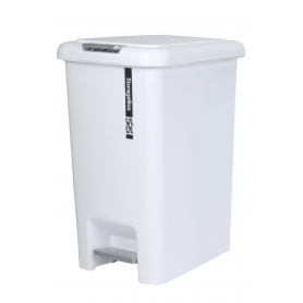 Plastic Pedal Bin 20L White