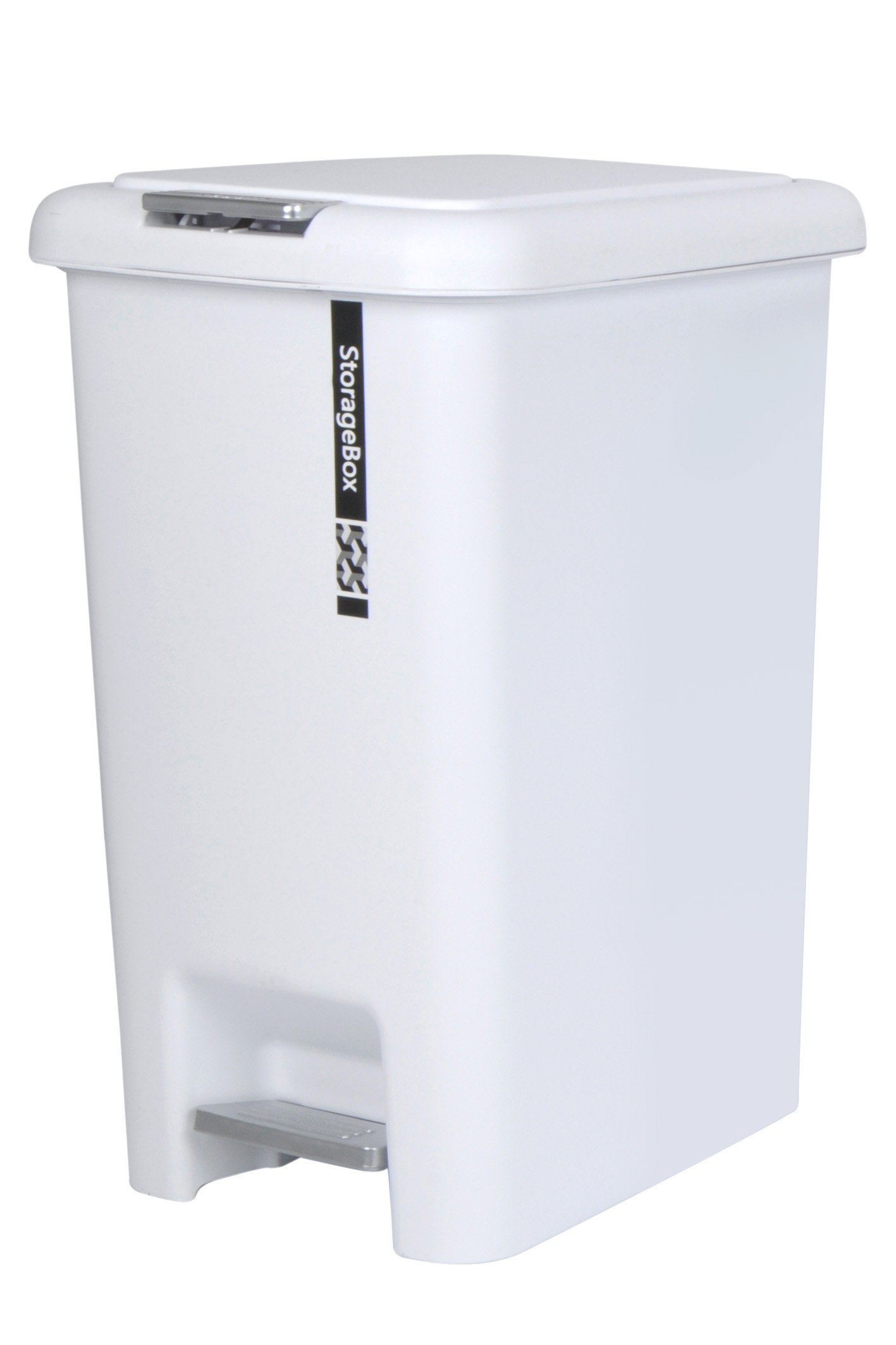 Plastic Pedal Bin 20l White From Storage Box