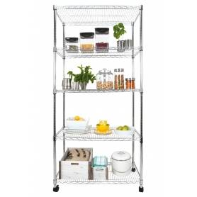 Eurowire 5 Tier Chrome Shelf