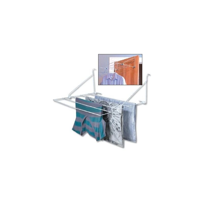 Clothes Airer 5 Rail Over Door From Storage Box