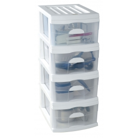 Taurus 4 Drawer A3 Unit White
