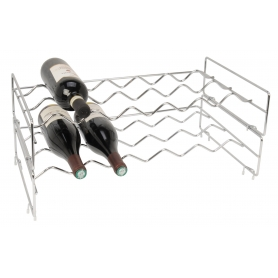 Chrome Stackable Wine Rack