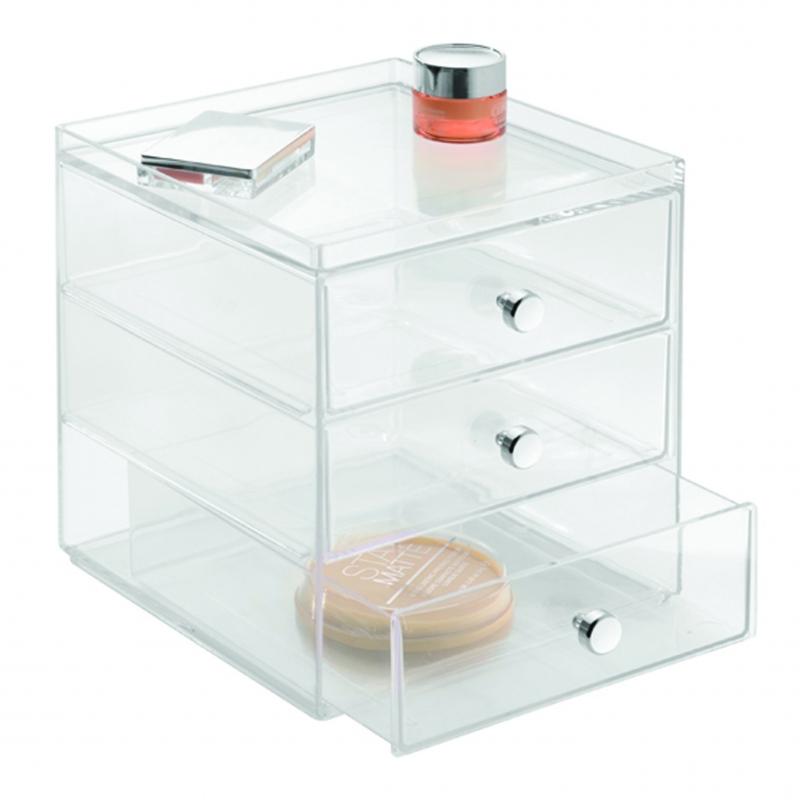 Clarity Cosmetic Organiser 3 Drawer