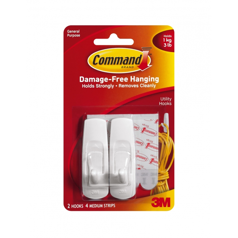 Command Hooks Medium 2 Pack