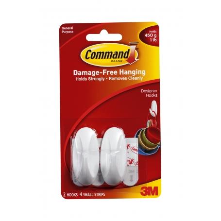 Command Designer Hooks Small 2 Pack