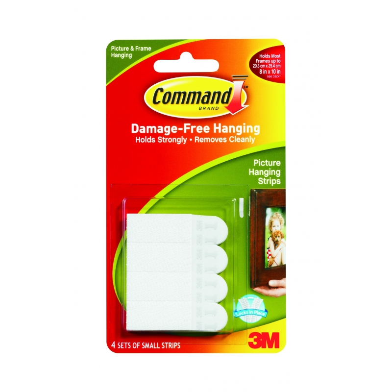 Command Picutre Handing Strips Small 4 Pack