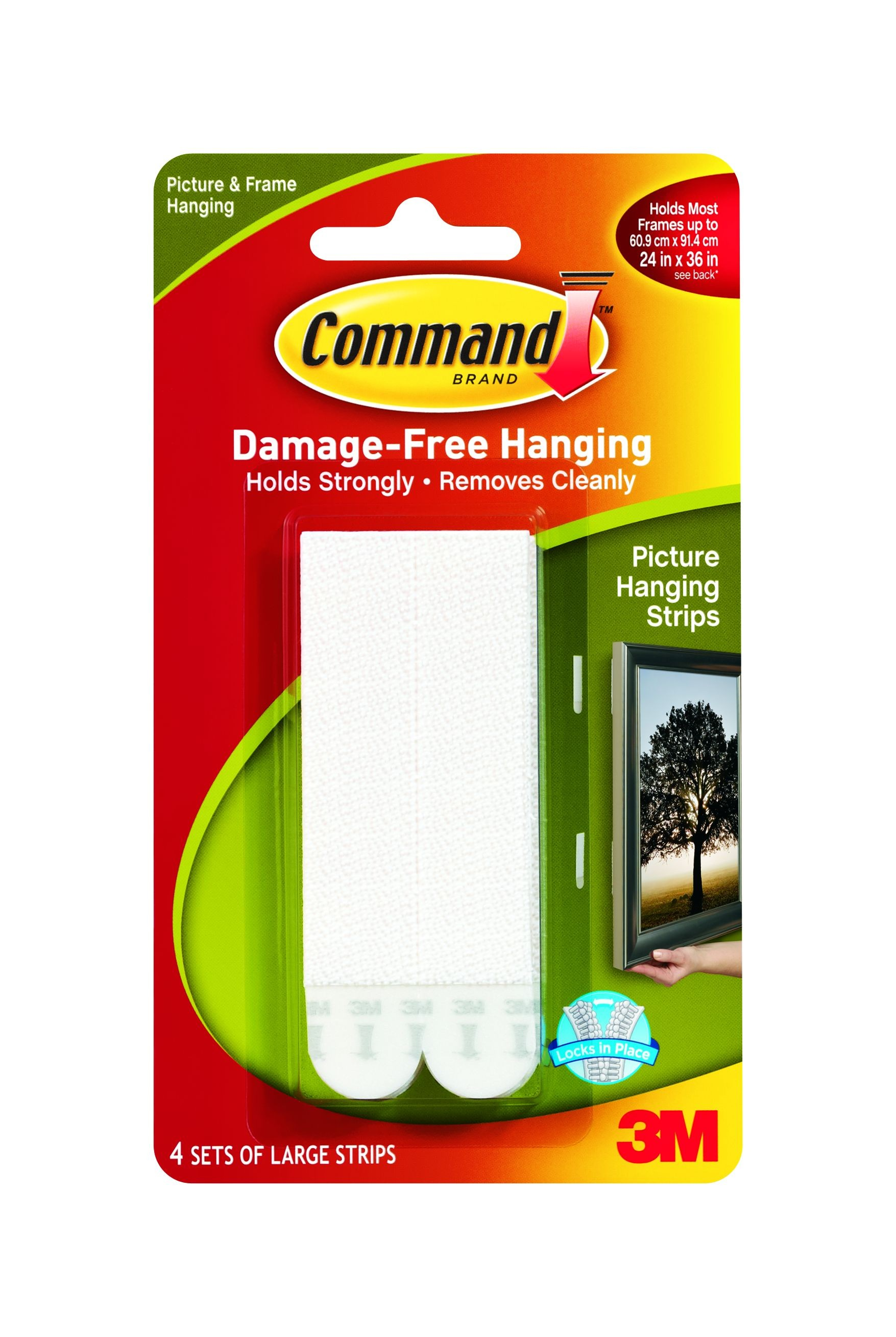 Command Picture Hanging Strips Large 4 Pack From Storage Box