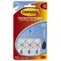 Command Wire Utensil Hooks Clear Small 3 Pack