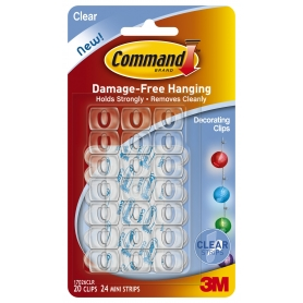 Command Clear Decorating Clips 20 Pack
