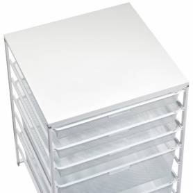 Elfa Melamine Wide Top White