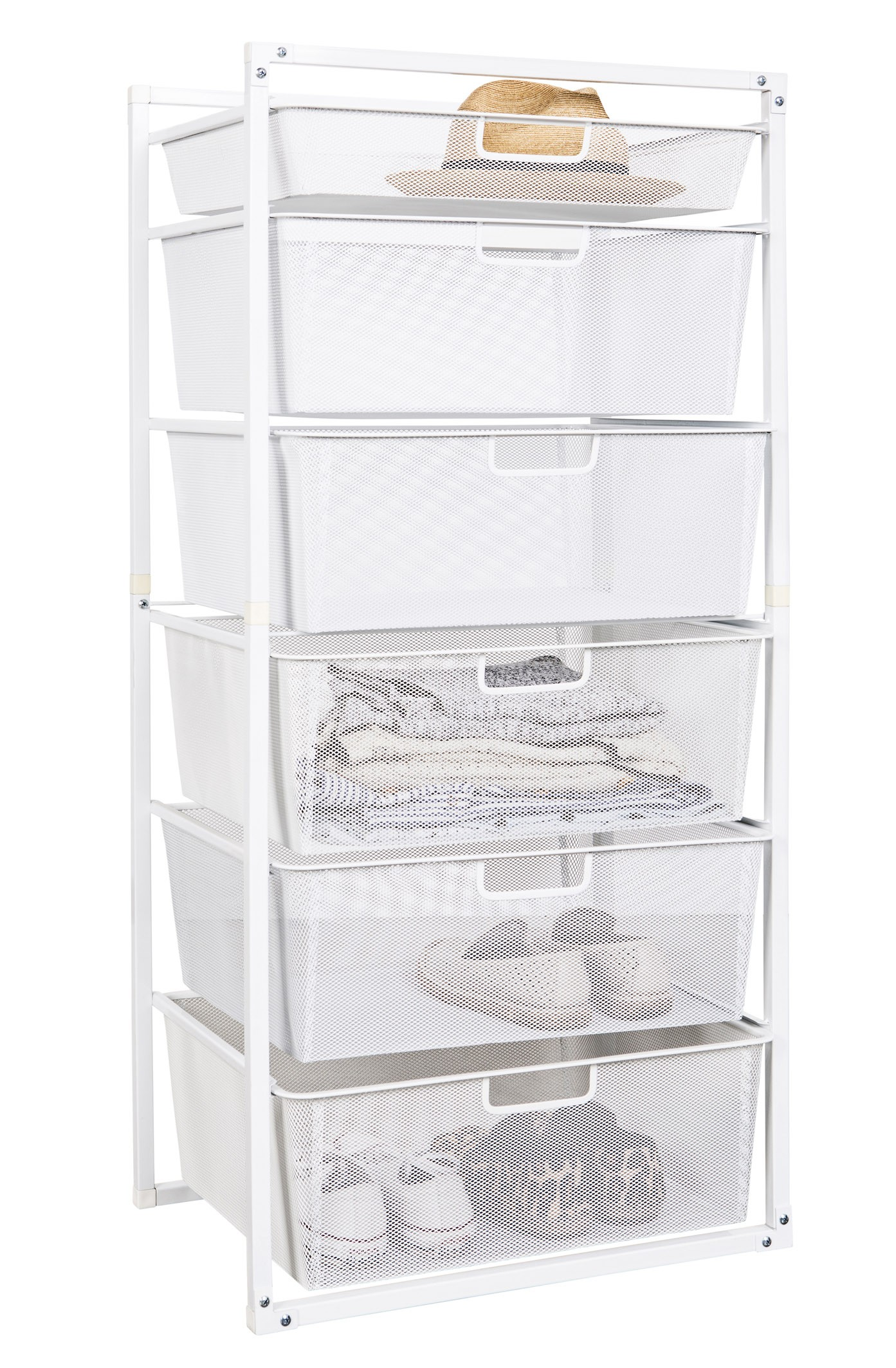 Mesh Drawer Baskets White 6 Tier From Storage Box