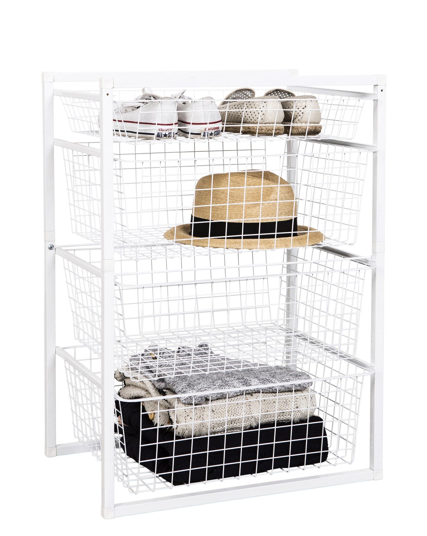 Wire Basket Drawer Unit 4 Tier From Storage Box