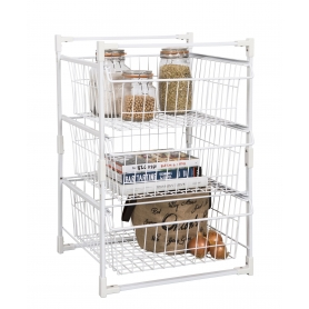 Wire Basket Drawer Unit 3 Tier