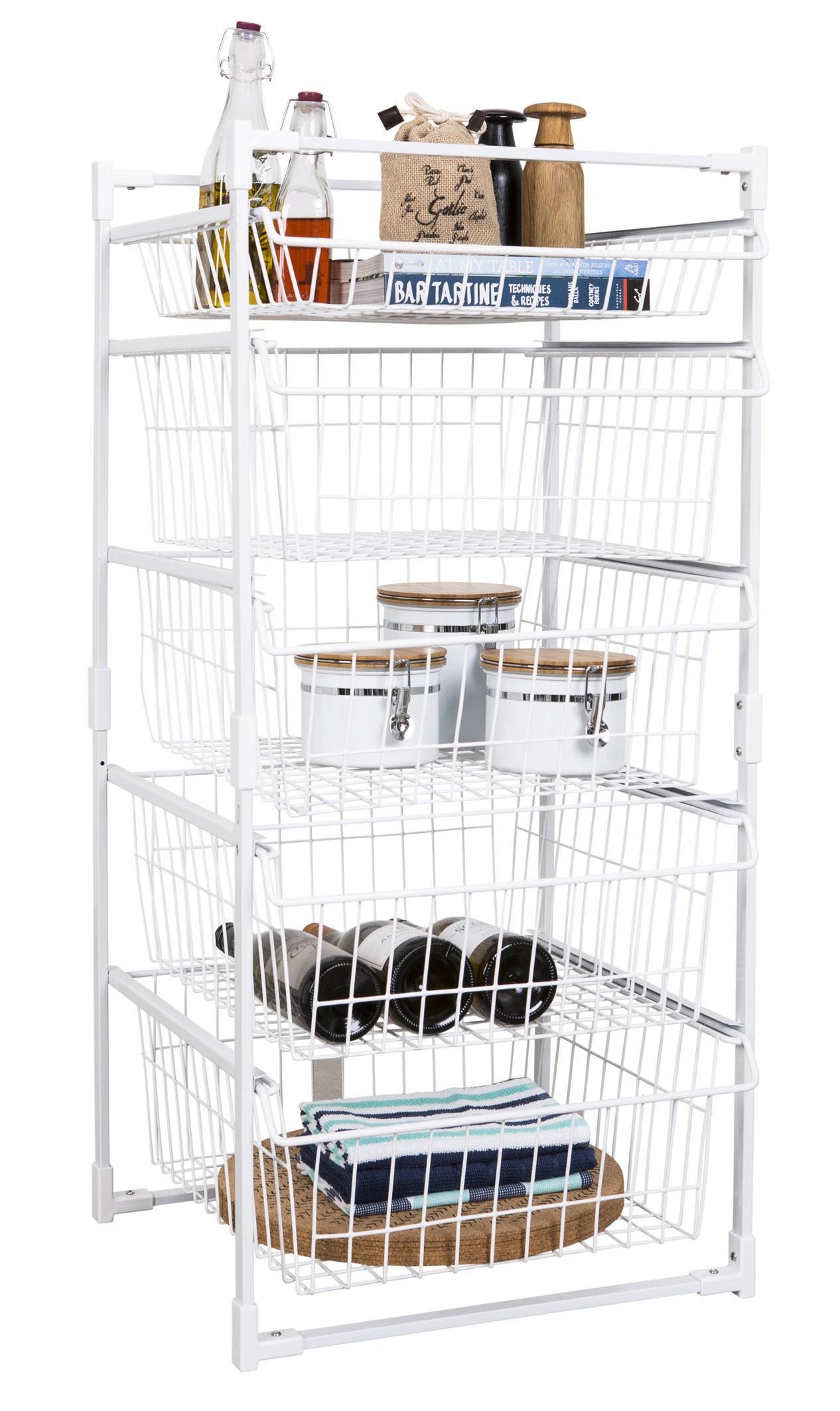 Wire Basket Drawer Unit 5 Tier From Storage Box