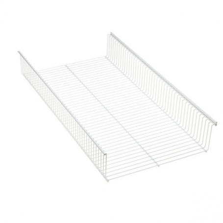 Elfa Shelf Basket 90x33 White