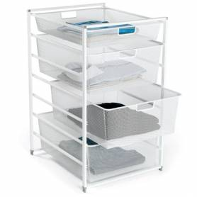 Elfa Drawer Set 45 Series 7 Runner White Mesh
