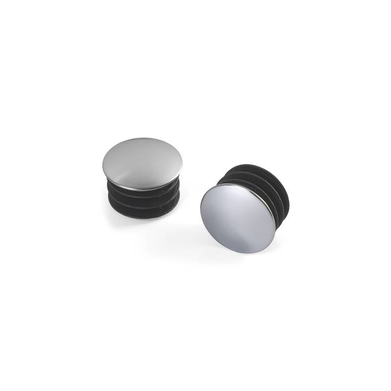 Elfa Closet Rod End Caps Chrome 2 Pack