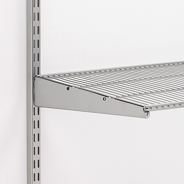 Elfa Ventilated Shelf Bracket Platinum 50cm From Storage Box