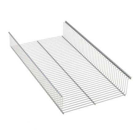 Elfa Shelf Basket 60x33 Platinum