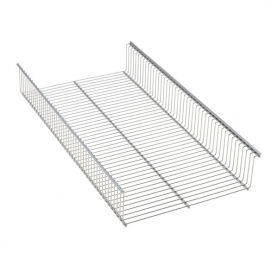 Elfa Shelf Basket 90x33 Platinum